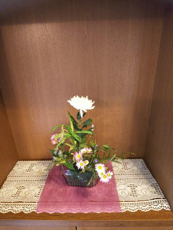 京都市右京区の吉本事務所の花
